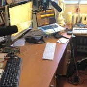 Recording in Newbridge College for Radio Maria